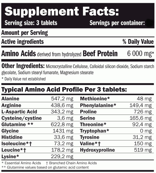 Amix-Nutrition-Beef-Amino-250-таблеток