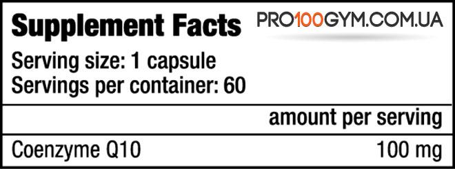 BioTech-USA-Q10-COENZYME-60-капсул-состав