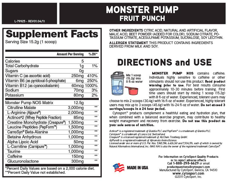 Monster Pump CytoSport