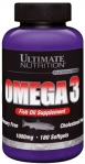 Omega-3 Ultimate Nutrition 1000 mg 180 softgels